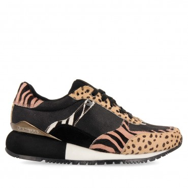 Sneaker Negro Leopardo Salavat Gioseppo