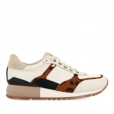 Sneaker Beige Leopardo Lieja Gioseppo