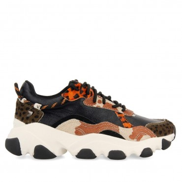 Sneaker Combinado Animal Print Aleksin