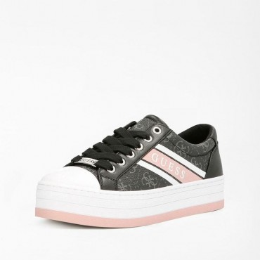 Sneaker Barona negro rosa de Guess