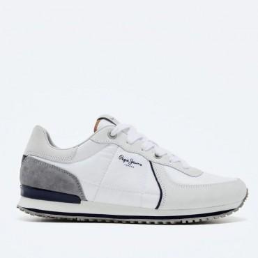 Sneaker Tinker City 21 de Pepe Jeans en blanco