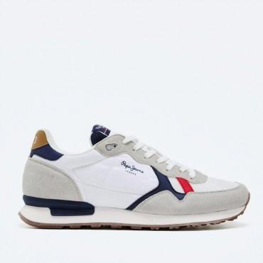 Sneaker Retro Britt blanco de Pepe Jeans