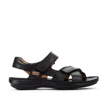 Sandalia velcro en negro de Pikolinos
