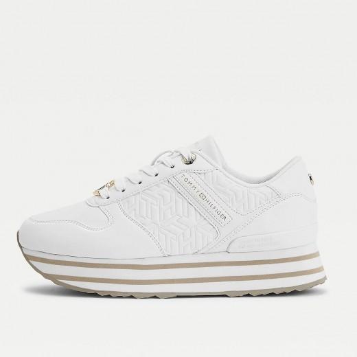 Sneaker con plataforma de Tommy en blanco