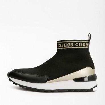 Sock negro de Guess con logo
