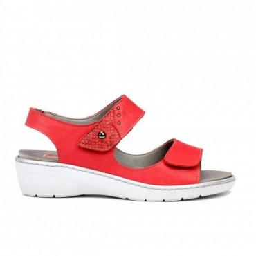 Sandalia Velcro Rojo Fluchos